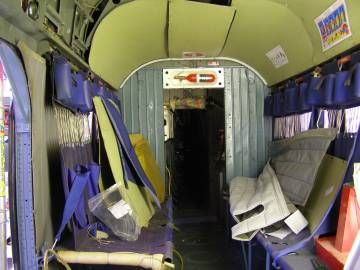 G-AVNE cabin before removal of trim and fittings