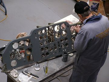 G-AVNE instrument being painted after anti-corrosion treatment
