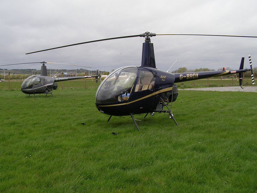 Robinson R22 Beta, G-BROX, at The Helicopter Museum