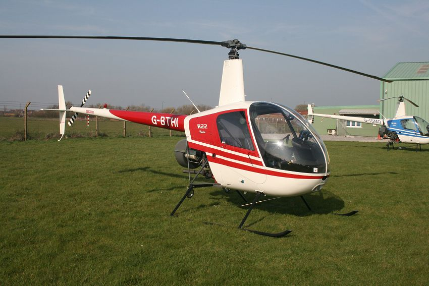 Robinson R22 Beta, G-BTHI, at The Helicopter Museum
