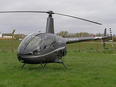 Robinson R22 Beta, G-DHGS, at The Helicopter Museum