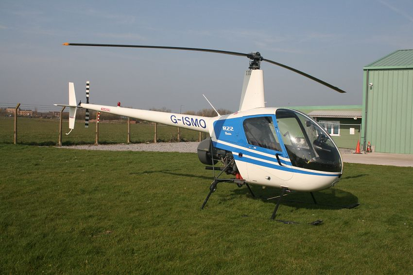 Robinson R22 Beta, G-ISMO, at The Helicopter Museum