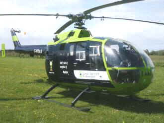 Great Western Air Ambulance, G-NDAA, at The Museum