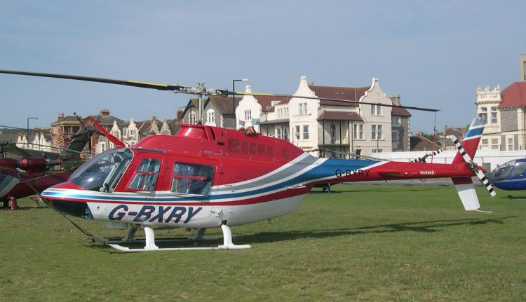 Bell 206B Jet Ranger, G-BXRY, at Helidays 2004