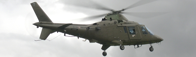 Italian A109 in typical Helidays 2005 weather