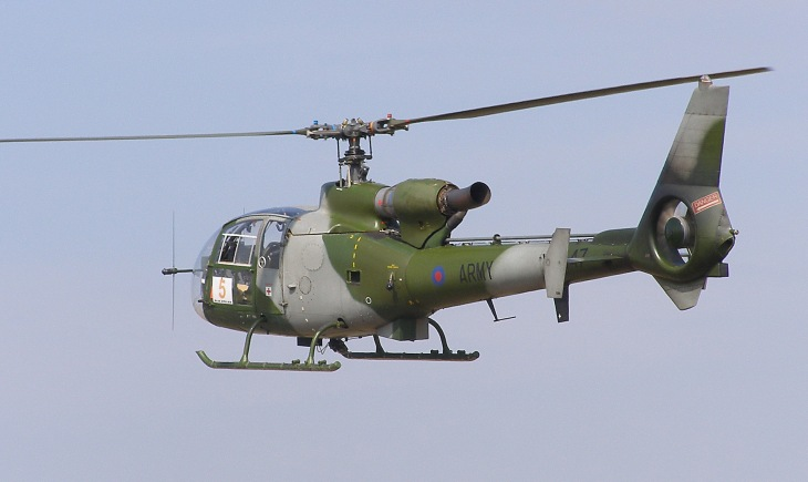 "WS Gazelle AH.1, XX447, from the ""Blue Eagles"""