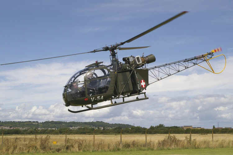 Alouette 2 as Swiss A.F. V-54