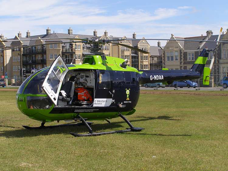 MBB Bo105DBS-4, G-NDAA, Air Ambulance