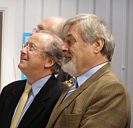 Mike Kurth with Elfan Ap Rees (Museum Chairman of Trustees)