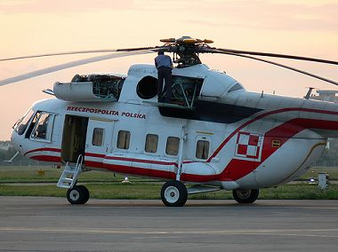 Mi-8PS VIP Transport in Polish Red/White VIP livery