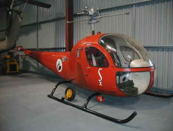Bell 47H-1, OO-SHW, on display at The Helicopter Museum