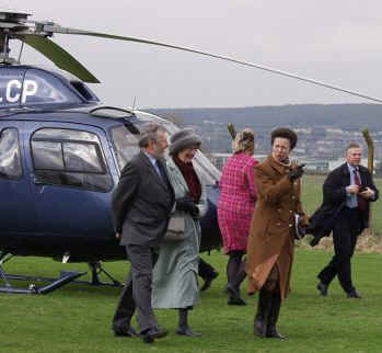 Princess Anne and G-OLCP  -  Click to enlarge