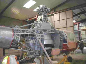 Widgeon G-AOZE with fuselage panels removed