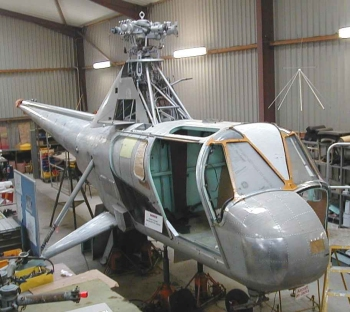 Widgeon G-AOZE being prepared for painting