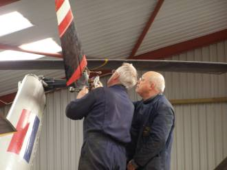 Tail Rotor Assembly was fitted by Mike and Stuart