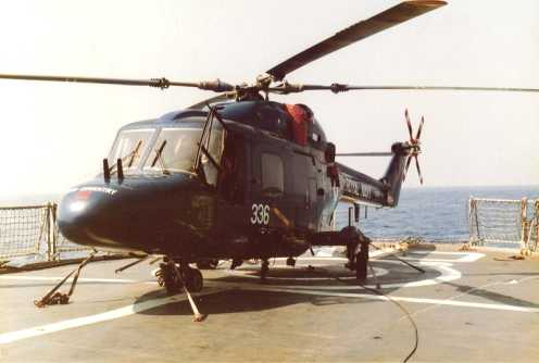 Westland Lynx  HAS.2, on HMS Coventry in 1980 (Thanks to Steve Hale for the photo)