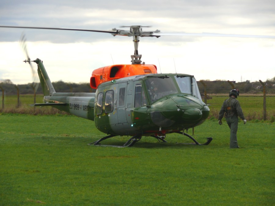 Bell 212, ZJ969, at The Helicopter Museum in 2012