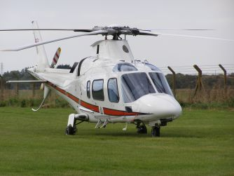 Agusta A109E, ZR321, at The Helicopter Museum